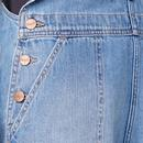 WRANGLER Womens Retro Denim Bib Shorts - Sundaze