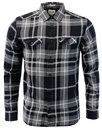 Wrangler jeans classic mens 70s check shirt black