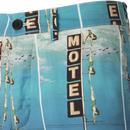 WRANGLER Motel Vintage 50s Print Chino Shorts