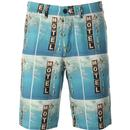 wrangler mens chino bold print shorts blue