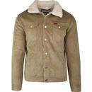 wrangler trucker sherpa lined jumbo cord jacket clay