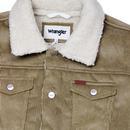 WRANGLER Jumbo Cord Sherpa Lined Trucker Jacket