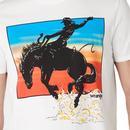 WRANGLER Retro 70s Rodeo Horse Print Tee (OW)