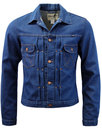 wrangler mens 70s mod western denim retro jacket