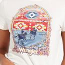 WRANGLER Women's Retro 70's Western Logo Tee OW