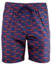 WRANGLER Men's Retro 70s All Over Logo Swim Shorts