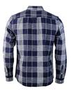 Wrangler Retro 1 Pocket Indigo Dye Check Shirt