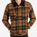 wrangler mens wool checked trucker jacket black golden brown
