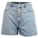 wrangler Womens stonewash signature buttons shorts