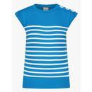 mademoiselle yeye feel the beat breton stripe top blue