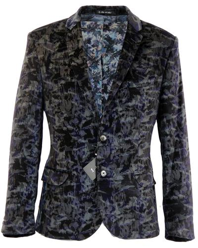 1 LIKE NO OTHER Retro 70s Space Camo Velvet Blazer
