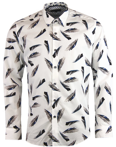 Baht 1 LIKE NO OTHER Retro Falling Feathers Shirt
