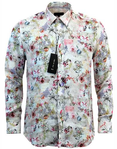 Hanakotoba 1 LIKE NO OTHER 60s Floral Linen Shirt