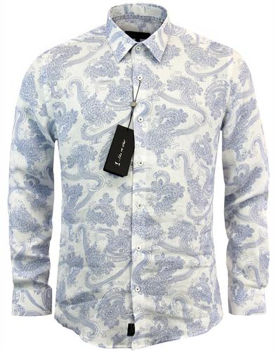 Kuroba 1 LIKE NO OTHER Japanese Wave Linen Shirt