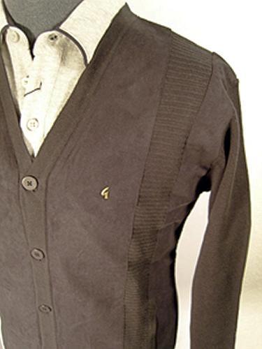 'Gabicci Vintage Suede Front Button Cardigan' (B)