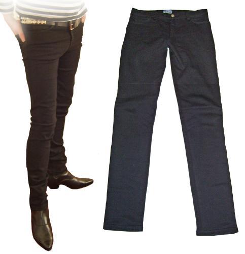 'Cavern 59' - Black Drainpipe Jeans