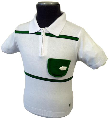 Kerry AERTEX Retro Mod Mens Knitted Polo Shirt W