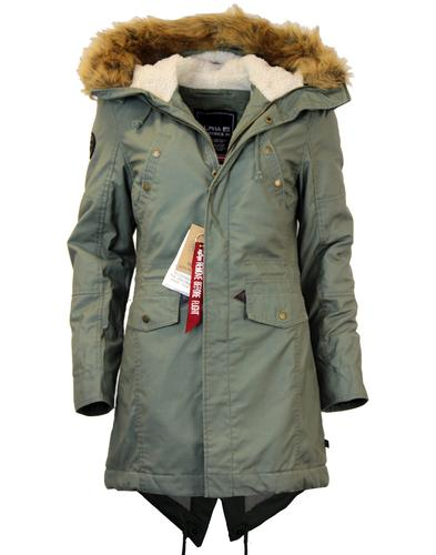 Hooded Fishtail Wmn ALPHA INDUSTRIES Mod Parka