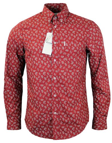 BEN SHERMAN RETRO MOD PAISLEY MENS SHIRT