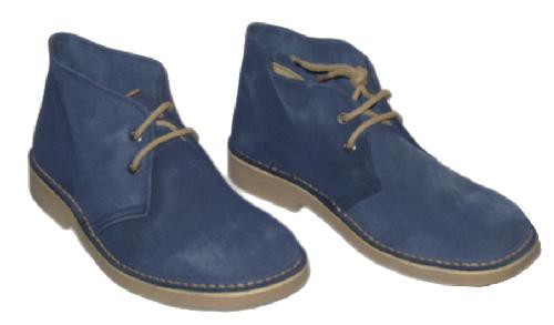 Blues - Men's Sixties Mod Desert Boots in Blue