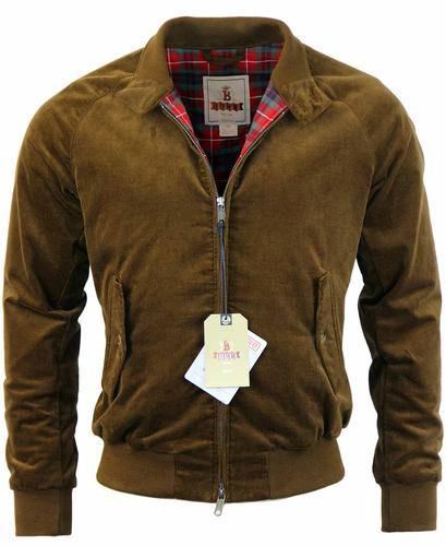 BARACUTA G6 CORD HARRINGTON RETRO JACKET BROWN