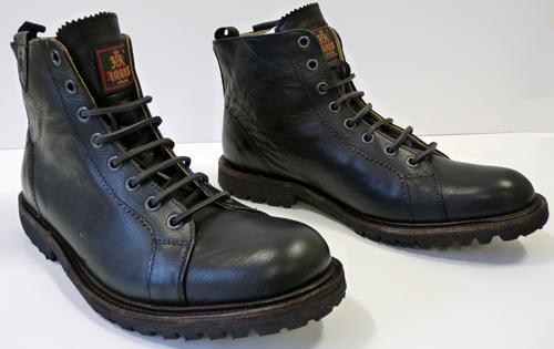 Baracuta \u0027Waterloo\u0027 Military Boots in Black