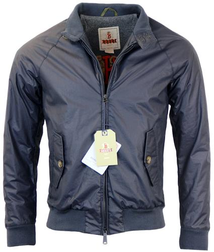 BARACUTA G9 WAX PADDED RETRO HARRINGTON NAVY