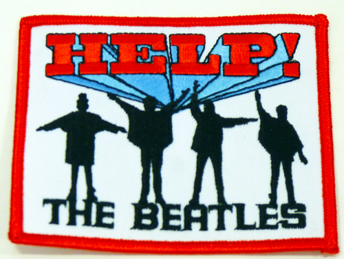BEATLES HELP SEW ON PATCH RETRO PATCHES INDIE MOD