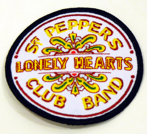 BEATLES SGT PEPPERS LONELY HEARTS BAND PATCH RETRO