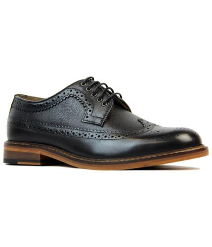 Deon Longwing BEN SHERMAN Mod Waxy Black Brogues