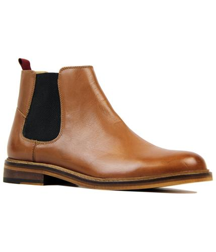 Deon BEN SHERMAN Retro Mod Leather Chelsea Boots