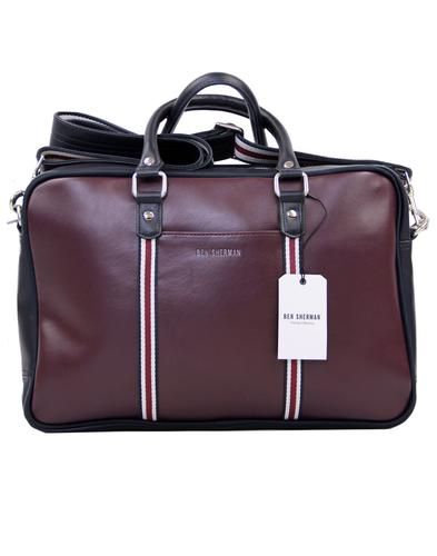 BEN SHERMAN Iconic Mod Stripe Laptop Commuter Bag