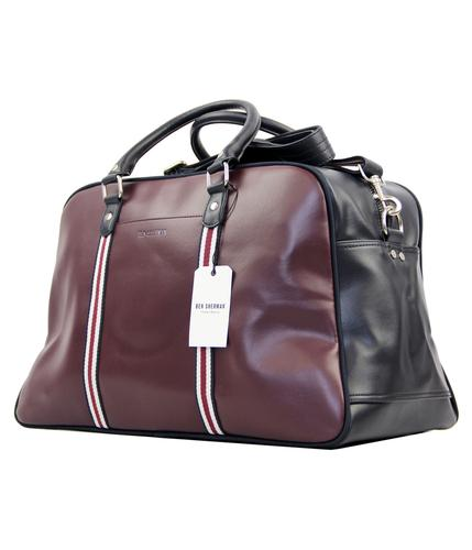 BEN SHERMAN Mod Block Panel Racing Stripe Holdall