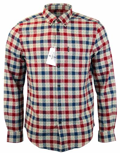 BEN SHERMAN Diamond Stitch House Check Retro Shirt