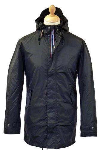 BEN SHERMAN Fishtail Parka in Black | Retro Sixties Mod Parkas Jacket