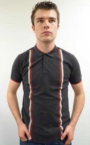 ben sherman striped polo in dark choc mens mod ben sherman clothing. Black Bedroom Furniture Sets. Home Design Ideas