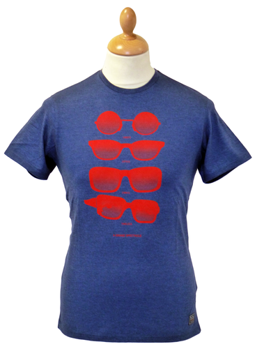 Retro Shades BEN SHERMAN Indie Mod Graphic T-Shirt