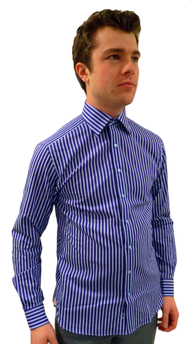 Tailored Candy Stripe BEN SHERMAN Retro Mod Shirt