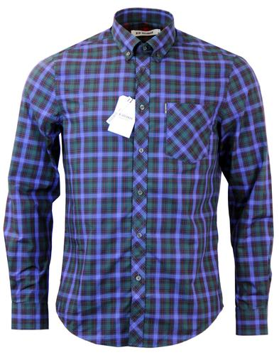 Pop Tartan BEN SHERMAN 60s Retro Mod Shirt