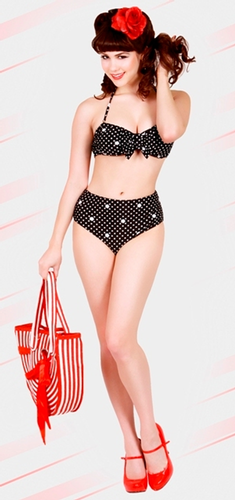 'Tan Lines' - Retro 50s Bikini by BETTIE PAGE (PD)