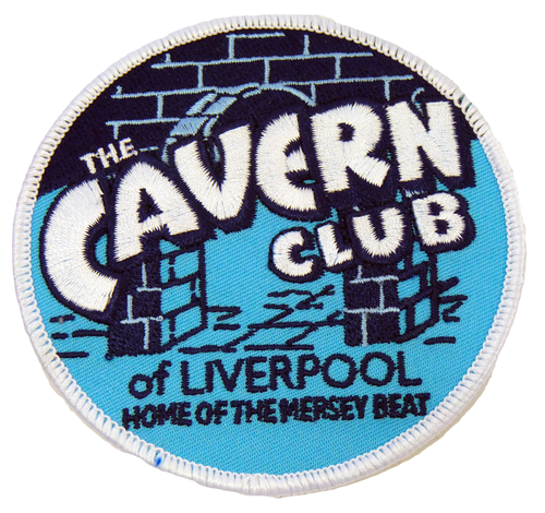 CAVERN CLUB Vintage Circle Retro 60s Iron On Patch
