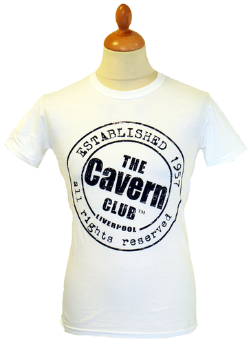 CAVERN CLUB T-SHIRT MENS ESTABLISHED 1957 IN WHITE