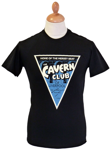 CAVERN CLUB T-SHIRT MENS MERSEYBEAT T-SHIRT TRI