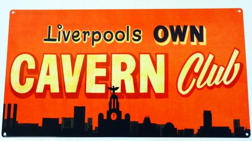 Cavern Club Skyline Tin Sign Retro Mod Vintage Skyline