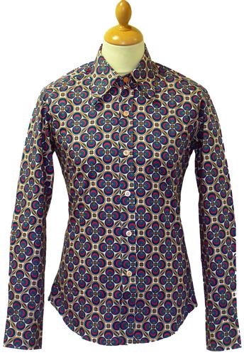 Dotsgrid Pattern Shirt Chenaski Retro Indie Mod Big