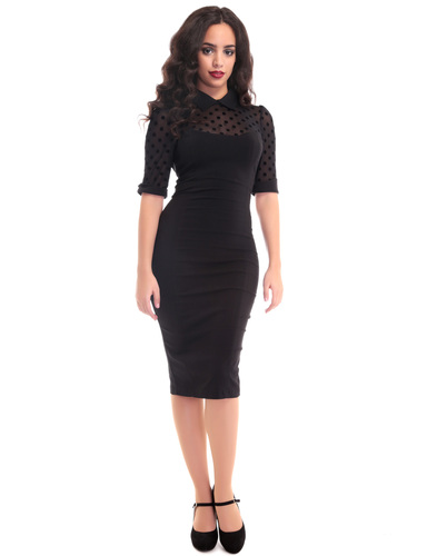 Wednesday COLLECTIF Retro 50s Vintage Pencil Dress