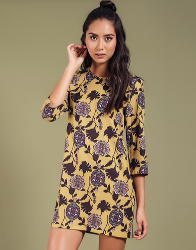 Tulsi DARLING Retro Vintage Floral Tunic Dress