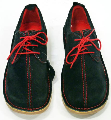 Dusty - Retro Sixties Mod Suede Centre Seam Shoes
