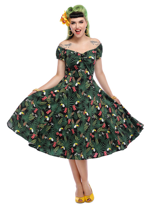 Collectif Dolores Doll Dress Tropicalia