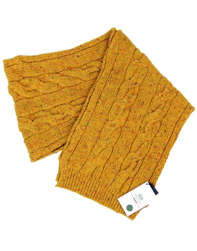 VIYELLA Retro Donegal Nep Vintage Knitted Scarf M